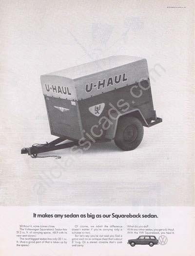 1969 Volkswagen Squareback Sedan U-Haul